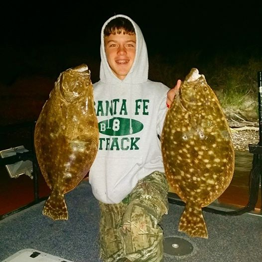 flounder gigging Galveston Texas
